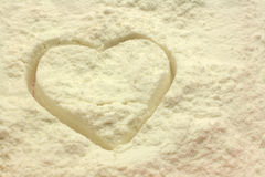 Heart flour Stock Photography