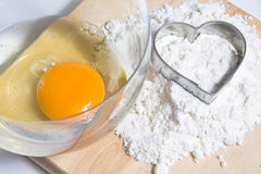 Heart flour Stock Photo