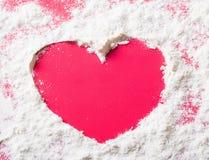 Heart of flour Stock Photo