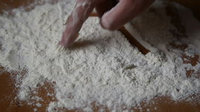 Heart on flour stock footage