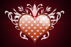 Heart and flourish Stock Photos