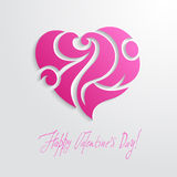 Heart flourish card Royalty Free Stock Image