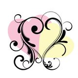 Heart Flourish Frame royalty free illustration