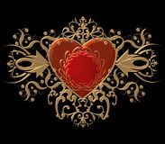 Heart and flourishes Stock Photos