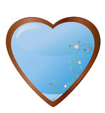 Heart with flower Royalty Free Stock Image