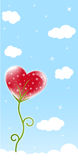 Heart flower Stock Images
