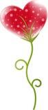 Heart flower. Red heart flower design, vector illustration Royalty Free Stock Image