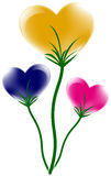 Heart flower. Colorful red heart flower design, vector illustration Royalty Free Stock Photos