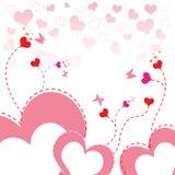 Heart flower background Stock Photo