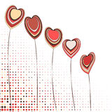Heart flower background. Vector background with flowers in the shape of a heart Royalty Free Stock Images