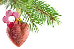 Heart and flower Ball christmas Royalty Free Stock Image