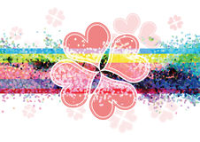 Heart flower banner design Stock Photography