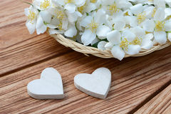 Heart and flower basket Royalty Free Stock Photography