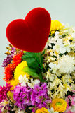 Heart and Flower Bouquet Stock Photos