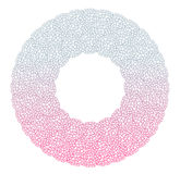 Heart flower bush pattern circle shape design pink purple Stock Photos