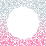 Heart flower bush pattern circle shape design pink purple Stock Photo
