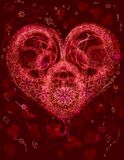 Heart- flower fractal Royalty Free Stock Photography