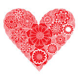 Heart of flower Stock Photo