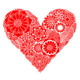 Heart of flower Royalty Free Stock Images