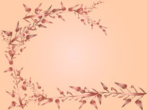Heart flower and leaves vector for background royalty free illustration