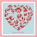 Heart flower. Love. Flower heart for Wedding or Valentines day design. Card stock illustration