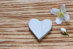 Heart and flower Royalty Free Stock Photo