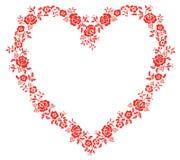 Heart  flower pattern Stock Image