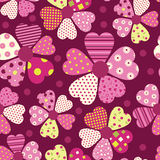 Heart flower pattern Royalty Free Stock Photo