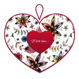 Heart with flower pattern. Card for Valentines day. You can write your text and give loved one Royalty Free Stock Photography