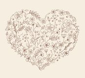Heart of the flower pattern Stock Photography
