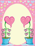 Heart flower in pot Royalty Free Stock Photos