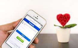 Heart flower pot for Social media concept. Stock Photo