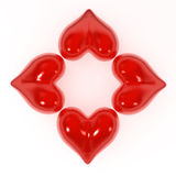 Heart Flower Shape Stock Photos
