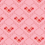 Heart flower shape  seamless pattern Royalty Free Stock Photos