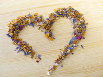 Heart of flower sugar Royalty Free Stock Photography