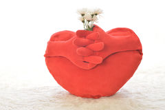 Heart with flower Royalty Free Stock Images