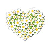 Heart of flowers Royalty Free Stock Images