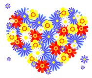 Heart from flowers. Royalty Free Stock Photos