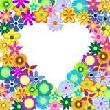 Heart with flowers Royalty Free Stock Image