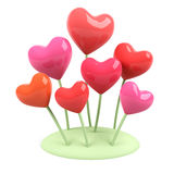 Heart flowers. Stock Photography