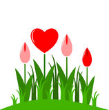 Heart flowers Royalty Free Stock Images