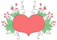 Heart and flowers Royalty Free Stock Photography