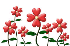 Heart flowers Royalty Free Stock Photo