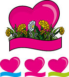 Heart with flowers Stock Photo