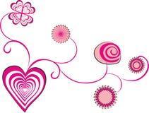 Heart flowers Royalty Free Stock Photos