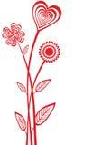 Heart flowers Stock Image