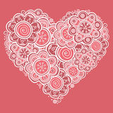 Heart of flowers Stock Images