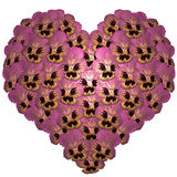 Heart from flowers Stock Image