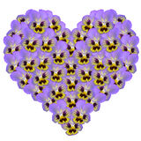 Heart from flowers. On a white background royalty free stock photo