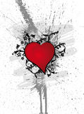Heart Flowers. Grunge vector illustration Royalty Free Stock Photo